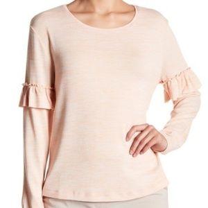 14th & UnionRuffle Trim Long Sleeve Shirt